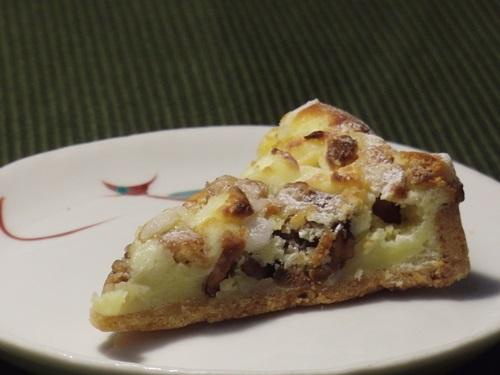 チーズとナッツのタルト