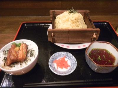 潮だまり 和風ざるラーメン&ミニ角煮丼