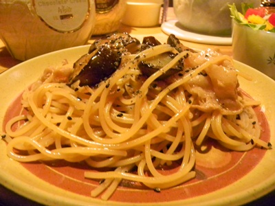 LAST 茄子と豚肉の和風スパゲティ