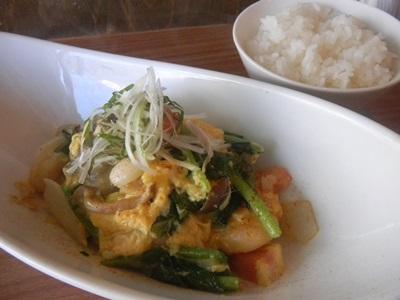 海老と野菜のふんわり卵炒め