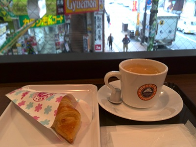 ミルキーホワイトチョコクロとコーヒー