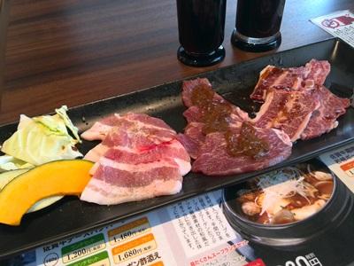 佐賀牛霜降り焼き肉と若楠ポークと有田鶏焼肉ランチ