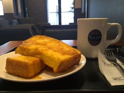 コーヒーとバニラフレンチトースト