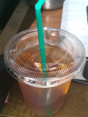 ノマドコーヒー 自家製シロップアイスレモンティ