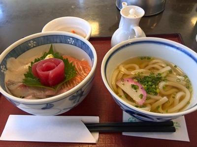 玉屋ファミリーレストラン ミニ海鮮丼セット