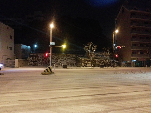 佐世保の雪 2016年1月24日午前6時頃